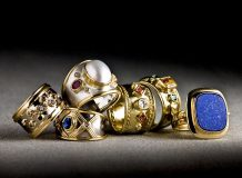 18ct gold and gems rings