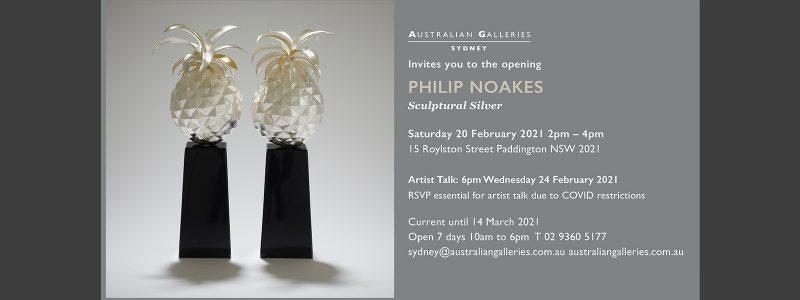 Australian Galleries Sydney –  Sculptural Silver exhibition 20 February – 14 March 2021